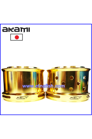 BOBINE ALLUMINIO AKAMI RELY ULTRA LIGHT - GOLD