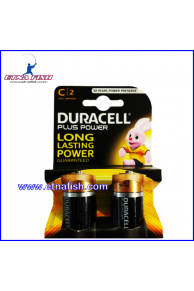 BATTERIE DURACELL PLUS POWER MEZZA TORCIA C X2